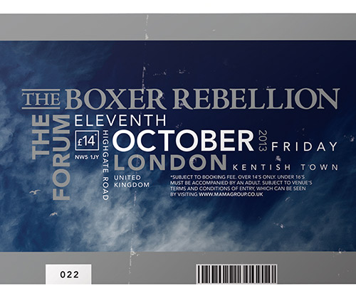 The Boxer Rebellion On Tour In The Us